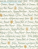 Grafiche Tassotti - Geschenkpapier Merry Christmas and a Happy New Year
