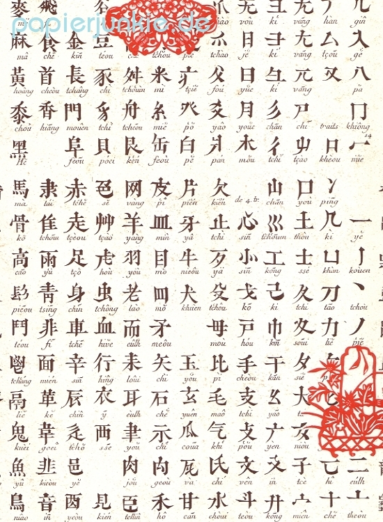 Carta Rossi, Geschenkpapier Chinesisches Alphabet ...