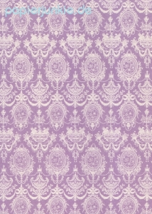 Geschenkpapier 18th Century French Damask, Purple (4 Bogen)