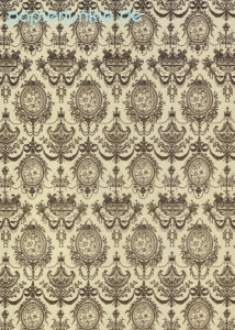 Geschenkpapier 18th Century French Damask, coffee (4 Bogen)