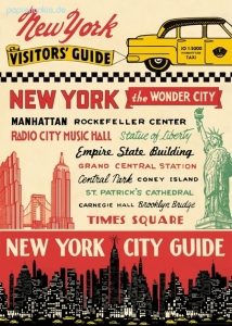 Geschenkpapier New York City Guide