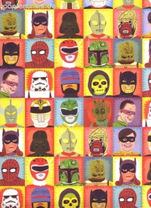 Geschenkpapier Jack Teagle, Heroes and Villains